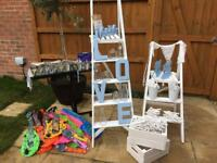 Wedding decorations *ladders*easels*bunting*table numbers and more