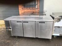 Commercial bench counter pizza fridge for pizza meat chiller restaurant takeaway kajsjw