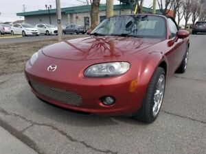 2007 Mazda MX-5 GT- MANUELLE 6- CONVERTIBLE- CUIR- BAS MILLAGE!