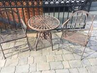 Garden furniture two chairs & table