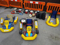 2 Spirit Go Kart racing chassis and parts