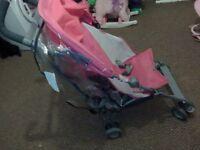 Pink maclaren volo stroller
