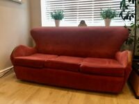 REDUCED: Sofa + 2 chairs: stylish mid-century