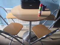 For sale round dineing table with 4 stools bargain £65 Ono
