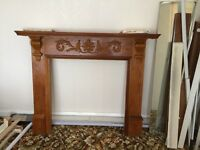 Oak effect fire place surround suitable for gas electric or real fire