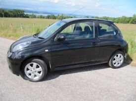 Nissan Micra 1.2 ACTIV 3 door in Black. ~ 1 Lady Owner ~ LOW MILES ~ VGC ~ PRIVATE PLATE ~ £2250