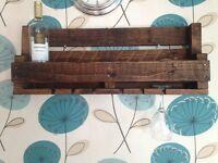 handmade wine racks rustic/farm house style