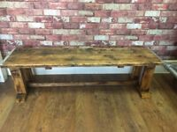 Bespoke Rustic Bench - Good and Solid . Scaffold Board Top