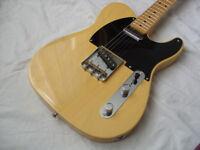 Fender Classic Player telecaster Baja. Custom shop designed