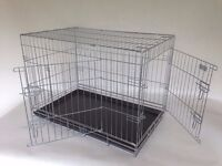 "Large 36"" silver strong dog crate by Doghealth ck36"
