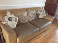 Classic Leather 3 Seater Sofa