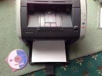 HP 1010 Printer c/w Cartridge plus Software - good working printer