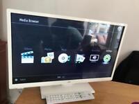 Jvc smart LED tv white netflix WiFi builtin