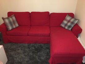 IKEA Red Ektorp Sofa