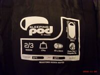 sleeping pod, new unused, more room than conventional sleeping bag