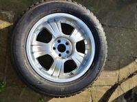 4 x Nearly new 255/55 R18 Winter tyres on seviceable aluminium rims