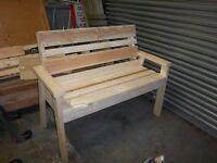 Brand New Joiner Built Solid Garden Bench
