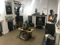 Log Burners, multi fuel stoves, flew systems. New showroom