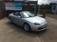 Just Arrived! MG TF Cool Blue Convertible 1.8 Petrol Convertible in Silver. Low mileage & MOT