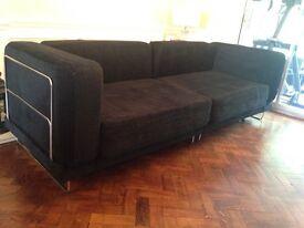 Stylish Black Sofa Bed in Brilliant Condition