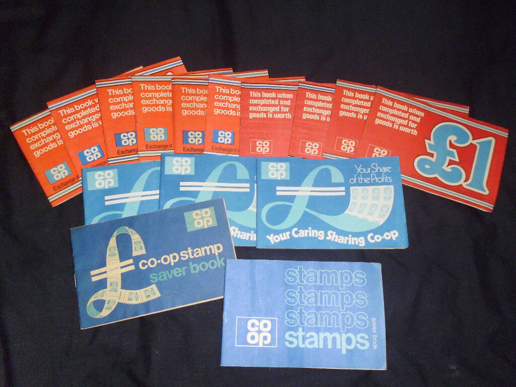 15 BOOKS OF CO-OP SAVERS STAMPS FROM 1970'S