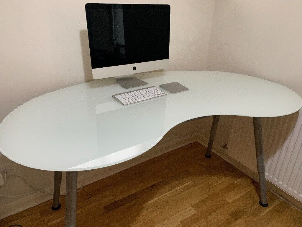 Beautiful Ikea Frosted Glass Kidney Bean Shaped Galant Desk In Canonmills Edinburgh Gumtree