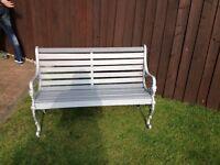 Garden bench grey / silver