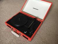 Crosley Cruiser 3 Speed Vinyl Turntable with Built-In Speakers (Orange)