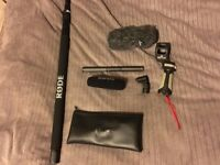 Rode NTG 2 shotgun microphone with 3m Boom Pole & Accessories