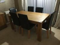 Hartford Dining Room Wooden Table & 6 Chairs.