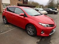 Toyota Auris, 2015, Red, 1.6 Petrol, 6 Speed Manual, Only 20k Low Miles, Fully Loaded, BARGAIN PRICE