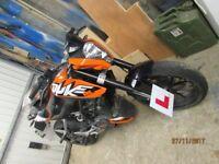 KTM Duke 125cc 65 plate