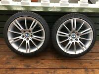 BMW Alloy Wheels with winter tyres 18 inch