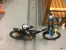 "16"" boys pirate decathalon bike"