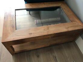 Lombok solid oak coffee table