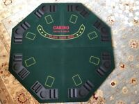 Poker table top, Octagon, fourfold