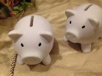 Money pots each £2