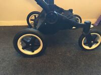 Bugaboo donkey twin black on black frame in great condition