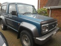 Daihatsu Fourtrak. year of make 19999. 111k on clock