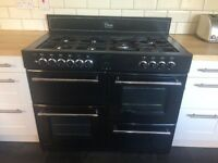 Belling black 1metre range cooker
