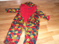 Rare Nippers Designer Flower Fleece All in One in good condition 12-18months only £25.