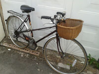 LADIES RALEIGH MISTY DUTCH STYLE TOWN BIKE WITH BASKET