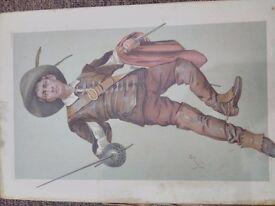 antique vanity fair series original print of 19th century