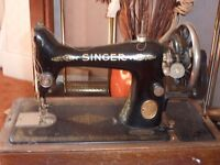 Antique old Singer sewing machine