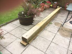 5 timbers 7x2 that are 3.6 meters long