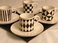 Hornsea Pottery Espresso Cups & Saucers