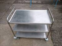 Stainless catering trolley