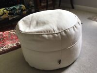 Cream Fabric Footstool