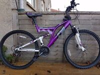 Purple Silver Fox Dunlop Bicycle