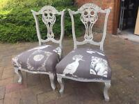 PAIR BEAUTIFULLY RESTORED QUEEN ANNE FIRESIDE CHAIRS